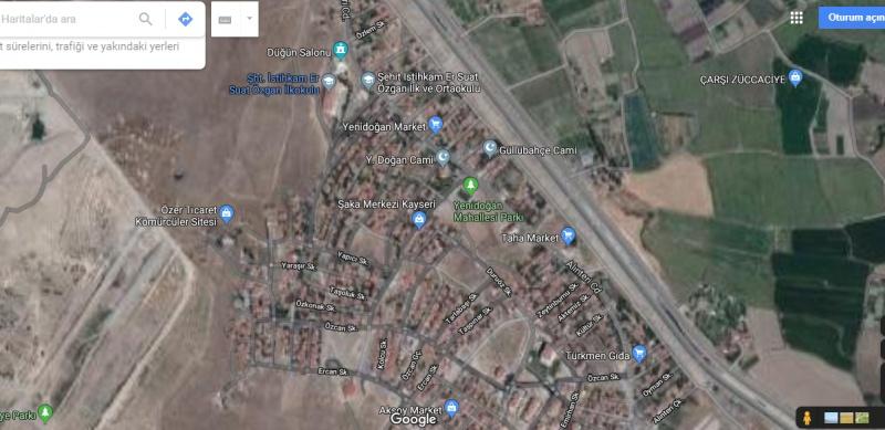 KOCASİNAN YENİDOĞAN'DA TOPLAM HİSSESİ 258 OLAN ARSALAR V 10497